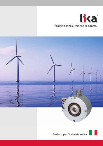 Catalogo prodotti per l'industria eolica