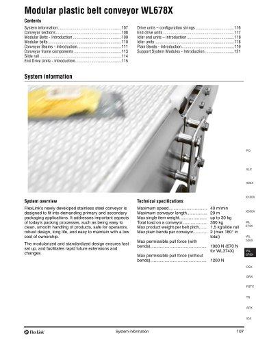 Conveyor system WL678X