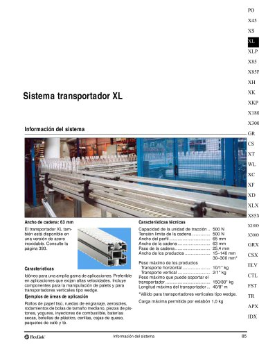 Conveyor System XL
