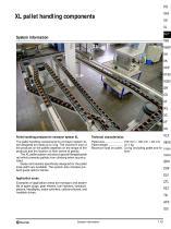 XL pallet handling components