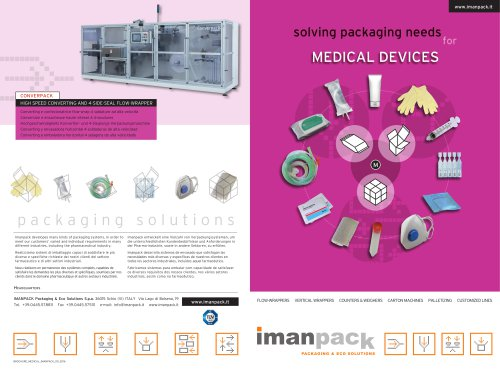 PACKAGING SOLUTIONS for MEDICAL DEVICES