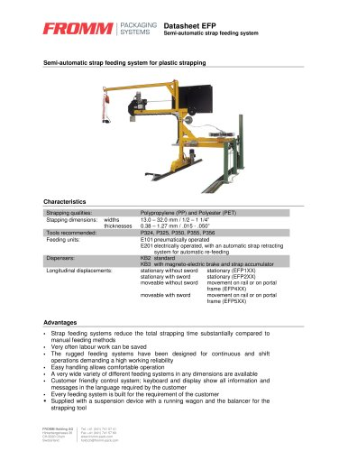 Automatic plastic strapping machines EFP