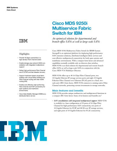 Cisco MDS 9250i
