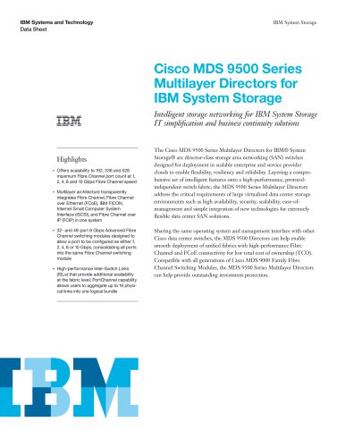 Cisco MDS 9500 Series Multilayer Directors