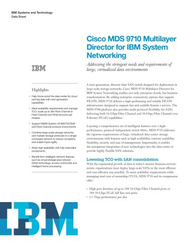 Cisco MDS 9710 Multilayer Director