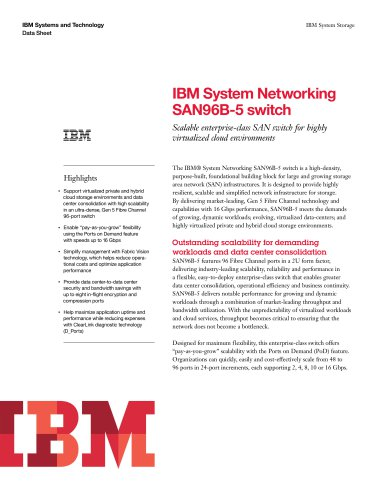 IBM System Networking SAN96B-5