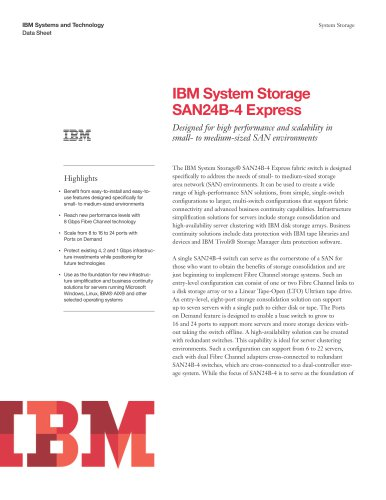 IBM System Storage SAN24B-4 Express