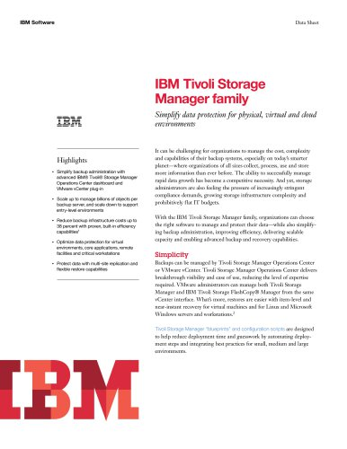 IBM Tivoli Storage Manager family v7.1