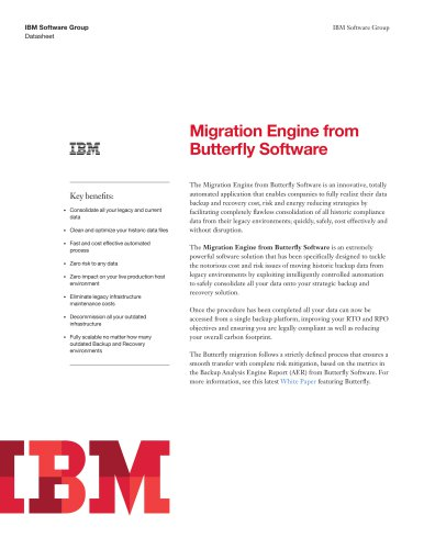 Migration Engine from Butterfly Software