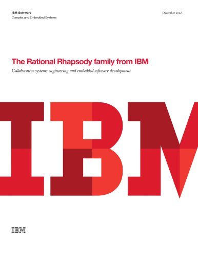 The Rational Rhapsody family from IBM (Brochure-USEN)