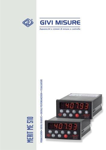 ME510 - Visualizzatori - Digital readouts   Digitale positionsanzeigen - Visualisateurs
