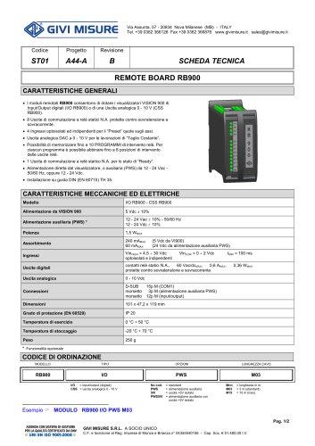 REMOTE BOARD RB900