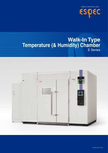 Walk-in Type Temperature (& Humidity) Chambers