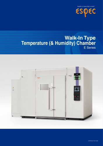 Walk in Type Temperature (& Humidity ) Chambers