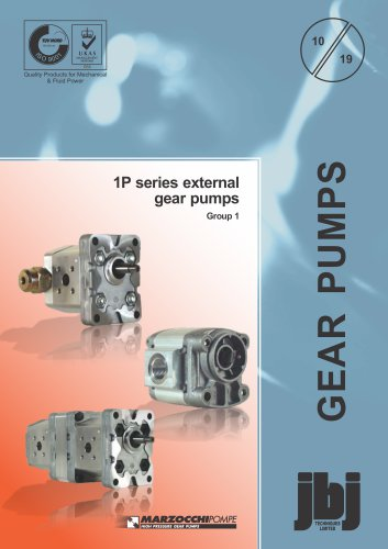 1P series external gear pumps Group 1