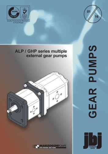 ALP and GHP series multiple external gear pumps