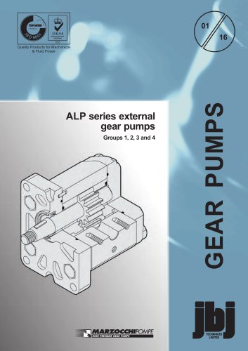 ALP series external gear pumps Groups 1, 2, 3 and 4