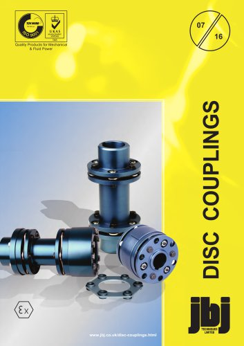 Disc couplings for mechanical power transmission