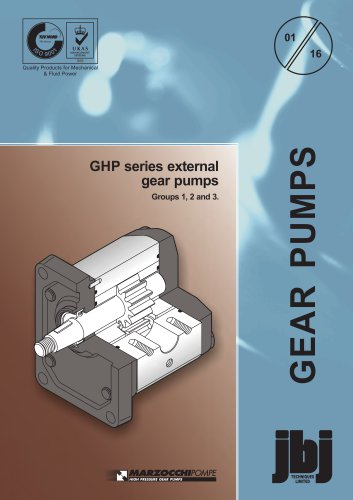 GHP series external gear pumps Groups 1, 2 and 3