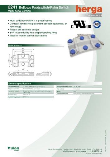 6241 Multi-bellow foot switch
