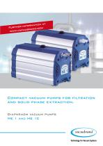 Compact vacuum pumps for filtration and solid phase extraction
