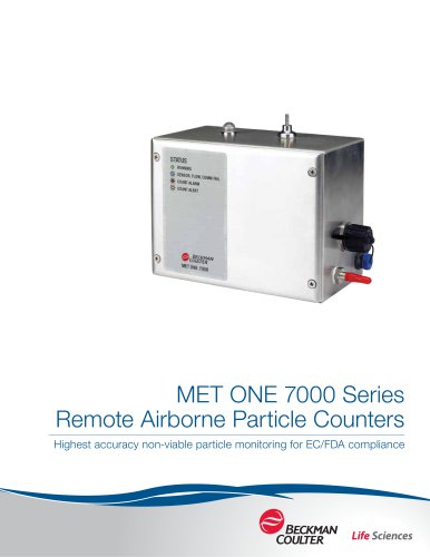 MET ONE 7000 Series  Remote Airborne Particle Counters