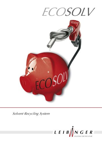 Ecosolv – the solvent recycling system