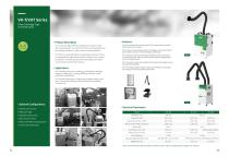 VHT, VH-T Series Filter Cartridge Type Fume Extractor
