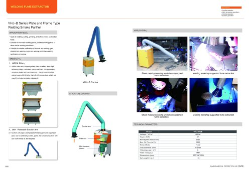 VILLO / compact welding fume extractor / arc welding, gas shield welding / VHJ-B