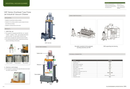 VILLO / three phase vacuum cleaning machine / Simulation operation, CNC supporting / VKF