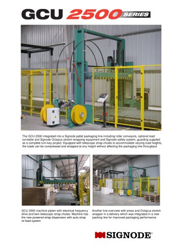 GCU 2500 modular pallet compression and strapping machine