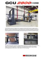 GCU 2800 Pallet compression strapping station
