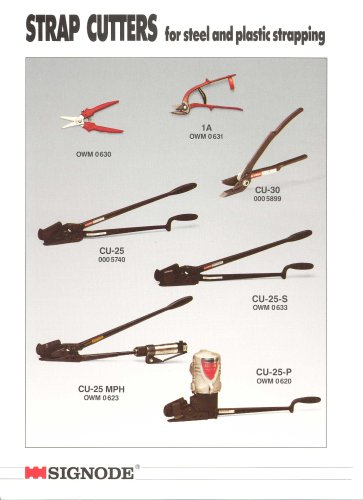 Signode - Steel Strapping Systems, Manual Hand Tools
