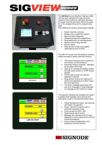 SIGView HMI Touchscreen System