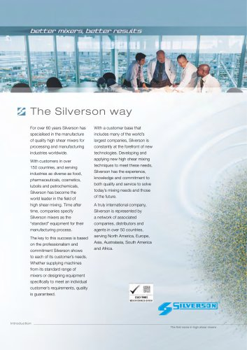 Intro to Silverson