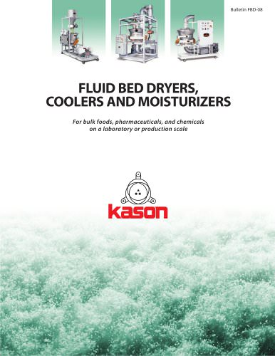 FLUID BED DRYERS, COOLERS AND MOISTURIZERS