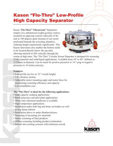 "Kason ""Flo-Thru"" Low-Profile High Capacity Separator"