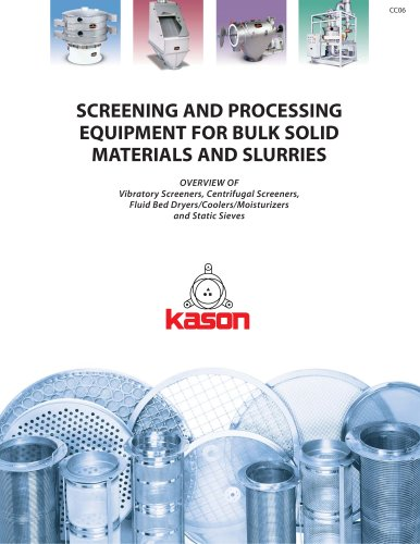 SCREENING AND PROCESSING EQUIPMENT FOR BULK SOLID MATERIALS AND SLURRIES
