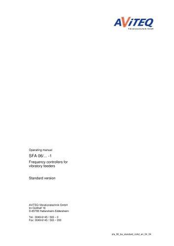 VIBTRONIC® controllers SFA 06