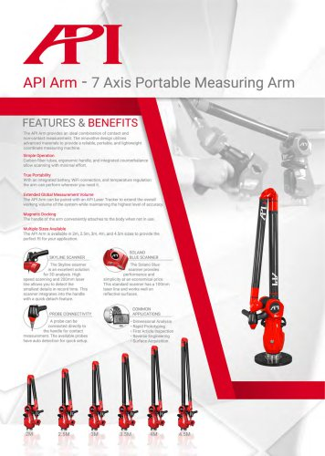 API Arm - 7 Axis Portable Measuring Arm