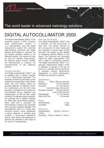 Autocollimator Datasheet