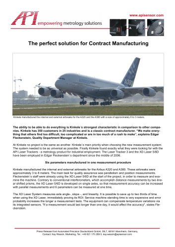 Contract Manufacturing: API Systems used at German´s largest contract Manufacturer: Kinkele GmbH