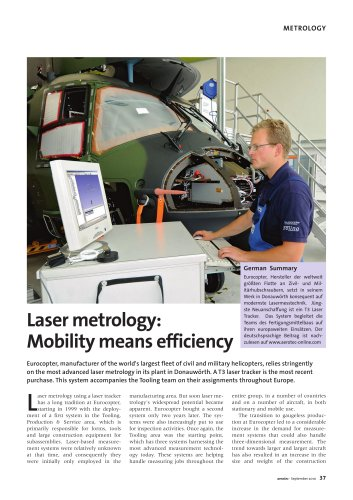 EUROCOPTER: Laser Metrology: Mobility means efficiency