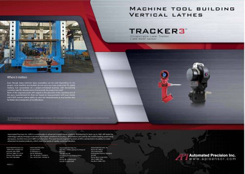 Machine tool building: vertical lathes Measurement with laser tracker (Flyer)