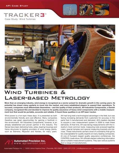 Wind Power - laser based metrology (frames, pillow block housings, hubs and gearbox casings)