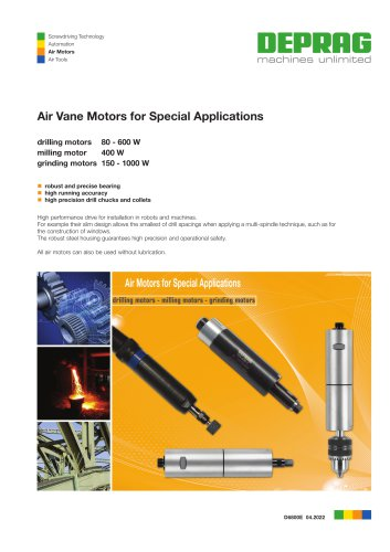 Air motors for special applications
