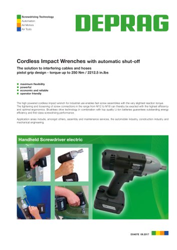 Cordless Impact Wrenches with automatic shut-off
