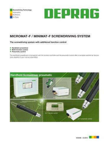 MICROMAT-F / MINIMAT-F SCREWDRIVING SYSTEM