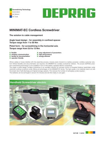 MINIMAT-EC Cordless Screwdriver