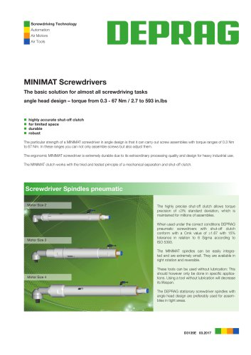 MINIMAT Screwdrivers angle head design - Screwdriver Spindles